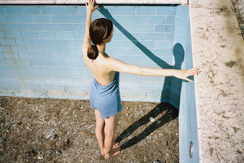 Sophie Bogdan 35mm 35mm Film Analog Analogue Photography Blue Film Film Photography Filmisnotdead Fine Art Fine Art Photography Pool Shadow Color Palette