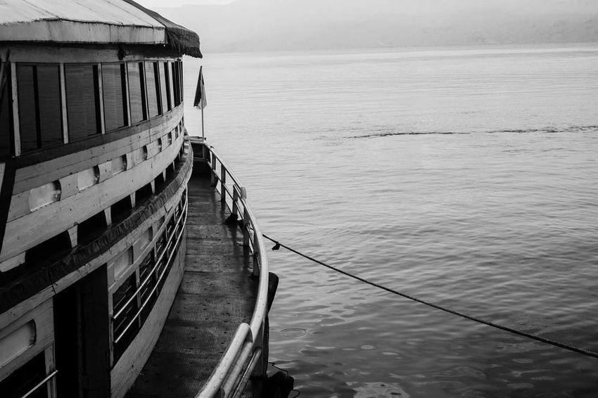 Samosir, 2018 Blackandwhite Lake Toba Lake Architecture Ferryboat EyeEmNewHere Water Outdoors Nautical Vessel Travel Destinations Harbor No People