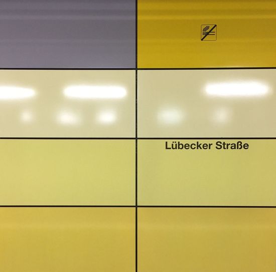 Lübecker Straße U-Bahn Hamburg Yellow Communication No People Indoors  Sign Text Information Transportation Backgrounds Architecture