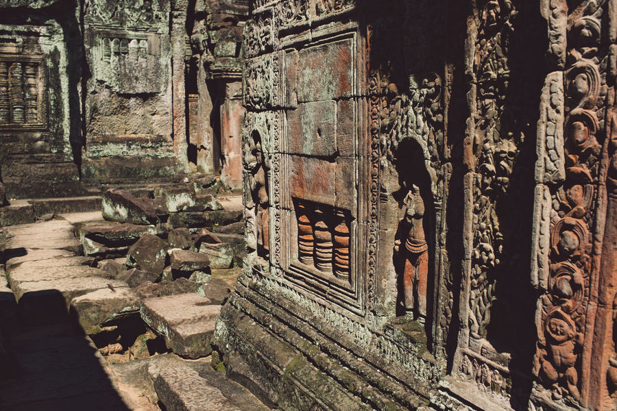 Siem Reap Cambodia Angkor Architecture Built Structure History Building The Past Place Of Worship Religion Old Belief Spirituality No People Art And Craft Old Ruin Ancient Abandoned Day Building Exterior Sculpture Creativity Ruined Ancient Civilization Deterioration Architectural Column Archaeology