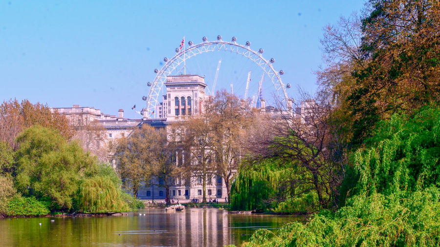 Uk England, UK Amusement Park London LondonEye Park St James Park  St James Park London