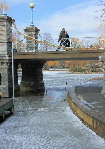 Boston Boston Common In Winter Boston Commons Boston Public Garden  Winter Adult Architecture Bridge Bridge - Man Made Structure Built Structure City Commons Day Outdoors Park People River Sky Transportation Travel Destinations Water