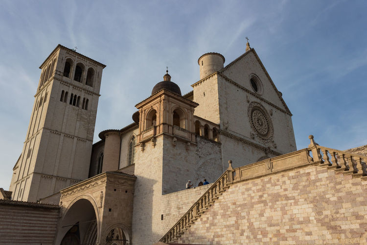 Basilica Church Saint Francis Of Assisi Architecture Building Exterior Built Structure Day Europe History Italy Low Angle View No People Outdoors Place Of Worship Religion Religion And Beliefs Sky Spirituality Umbria