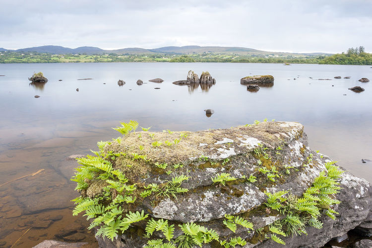 View of The Lake Eske in Donegal, Ireland Water Sky Beauty In Nature Tranquility Tranquil Scene Scenics - Nature Lake Nature Reflection Cloud - Sky Idyllic Calm Rocks Stones Twilight Dawn Mountains Ireland Donegal