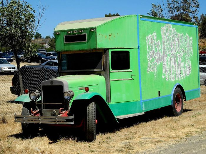 Old Check Moving Truck Old Green Truck Old Moving Van