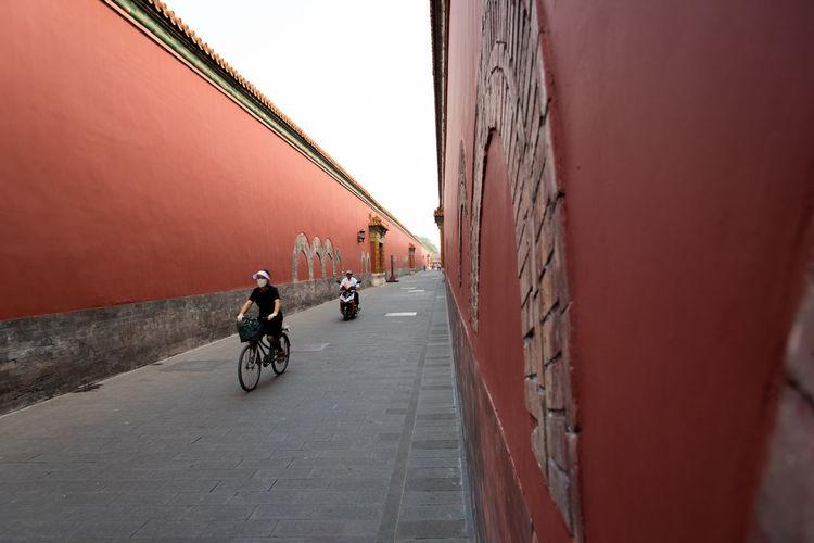cyclists inside
