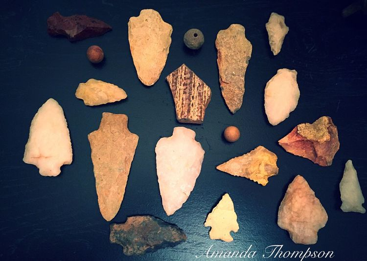 Indian Artifacts Arrowheads Objects Capturing History Yamacraw Indians Savannah Georgia Personal Collection