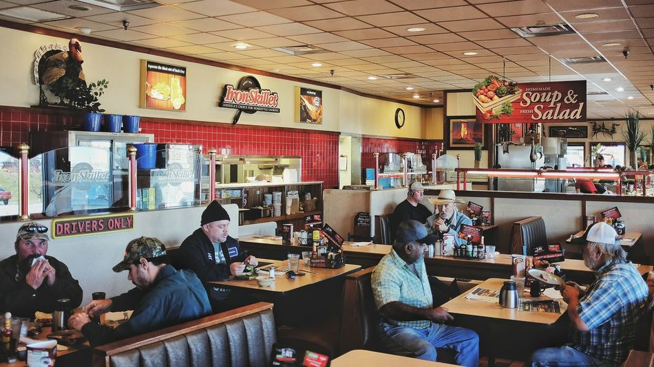 Truck stop York, Nebraska November 2015 America Americans Characters Cultures Diner Eating Hey Traveler Indoors  Oddball On The Road On The Road Again Outsider Outsiderin People Photo Essay Photography Real People Restaurant Society Taking Photos The Traveler - 2015 EyeEm Awards Truck Stop Truckerslife