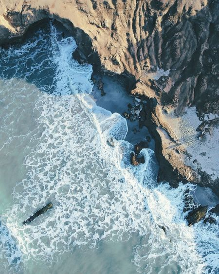 Nature Nature Beauty In Nature High Angle View Outdoors Day Rock - Object No People Water Travel Destinations Landscape Scenics Power In Nature Sea Sunlight Sand Argentina The Week On EyeEm Mardelplata Drone  Beach Dronephotography Aerial View