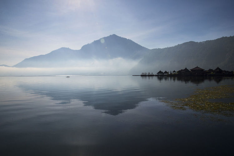Peace Bali Peace And Quiet Architecture Beauty In Nature Day Fog Lake Mountain Mountain Range Nature No People Outdoors Peaceful Peacefulplace People Reflection Scenics Sky Tranquil Scene Tranquility Water