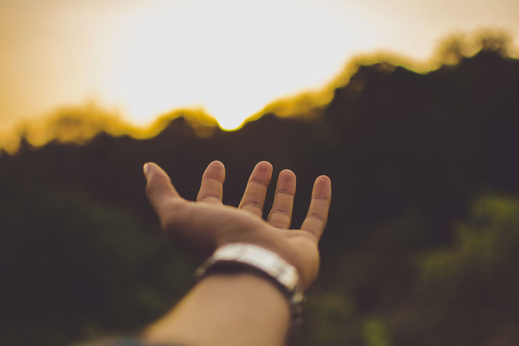 Take me away! Human Hand Human Body Part One Person Sunset Close-up Nature Outdoors Day Sky Taking Photos Photography Photo Me Light Sun India Hope Pune Check This Out Another Take Me To The Other Side Nature Sunlight Orange Color Dramatic Sky Out Of The Box EyeEmNewHere