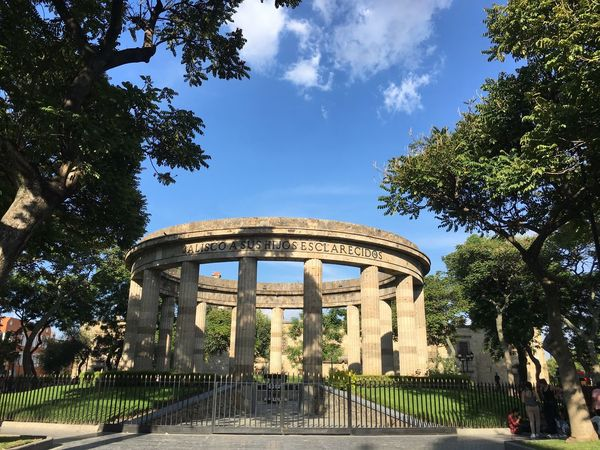 Famous Place Architecture Park - Man Made Space No People Local Landmark Day City Life History Outdoors Sky Travel Destinations Blue Arch The Past Tree Built Structure Architectural Column Tourism Building Exterior