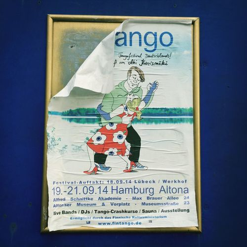 Tango Plakat Last Showing Fliegendebauten