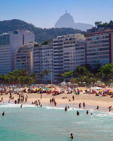 Praia do Leme, Rio de Janeiro. Cristo Redentor LeMe Praia Rio Rio De Janeiro Beach Ocean Sun