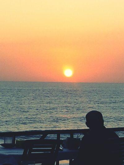 Sunset in tanah lot ,Bali
