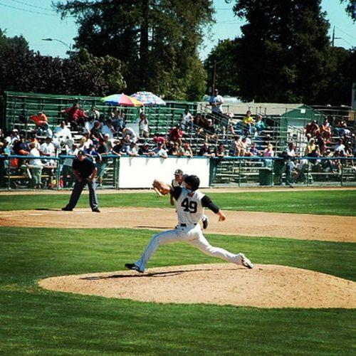 My pic of Lincecum from 2006 in San Jose. Timlincecum Thefreak Sanjosegiants Sj  minorleaguebaseball pitcher cywinner windup baseball professional
