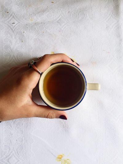 a pretty ring and a warm cup of tea Things I Like EyeEm Best Edits Hand Tea Ring EyeEm Gallery EyeEm Best Shots EyeEmBestPics Eye4photography