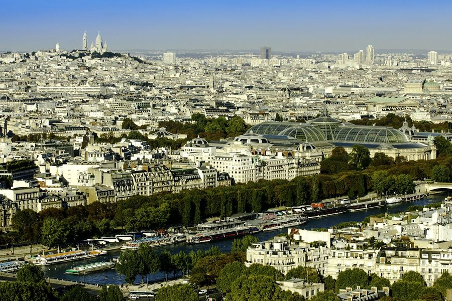 View From Eiffel Tower Paris ❤ Paris, France  Paris France City View  Cityscapes River Sacre Coeur Sacrecoeur