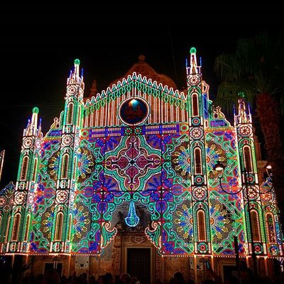 Salento Ortelle Festa Sangiorgio luminarie festapatronale