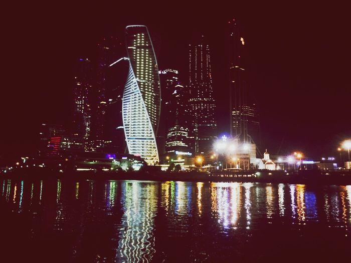 Москва центр набережная москвасити ночная Москва прогулка
