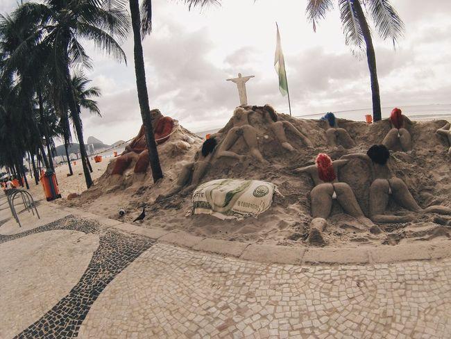 Bom dia Brazil Praia ChristTheRedeemer Thong