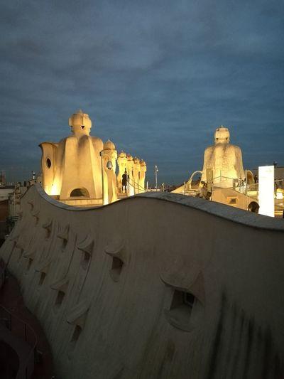 On Sale La Pedrera, Casa Milá Gaudì Architecture Work Barcelona, Spain Atardecer My Best Photo City History Arts Culture And Entertainment Architecture Sky Building Exterior Sculpture Arch Archway Amphitheater