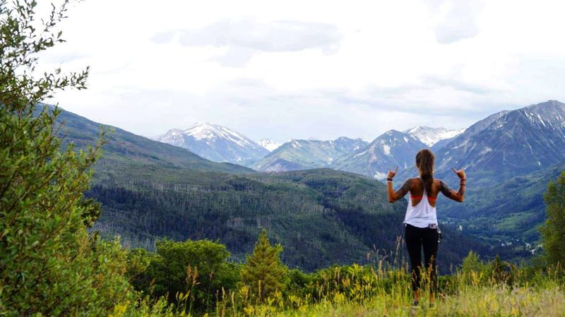 Adults Only Mountain Nature Outdoors Fun Journey Adventure Lifestyles Green Color Travel Destinations July 2017 Colorado Tattoo ❤ Standing Enjoyment Beauty In Nature Scenics Landscape