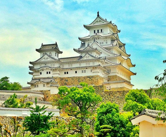 Architecture Building Exterior Built Structure Travel Destinations Tradition Low Angle View No People Day Japan Himeji Himeji Castle White White Castles  Travel Travel Photography Castle EyeEmNewHere Miles Away
