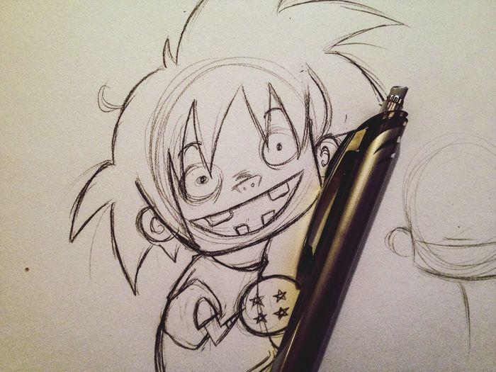 Sketch Drawing Cute Anime Doodle Cartoon Fanart Art Wip DBZ