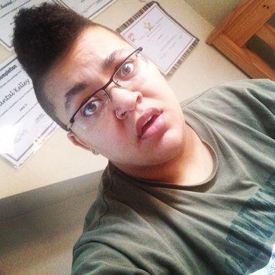 Holy Morning Hair ! afrohawk Mohawk Mixed mixxed hazeleyes eyes girlswhokissgirls girlsthatlikegirls girlswithshorthair girl instagood instalike lesbian lesbiansofinstagram nosering raybands stem stemme plugs 4g