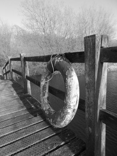 Blackandwhite Blackandwhite Photography Bridge Lakeside Lakeside Beauty Lifesaver Nature Out And About Out And About Trees Wooden Handrail Wooden Structure Woodenfence