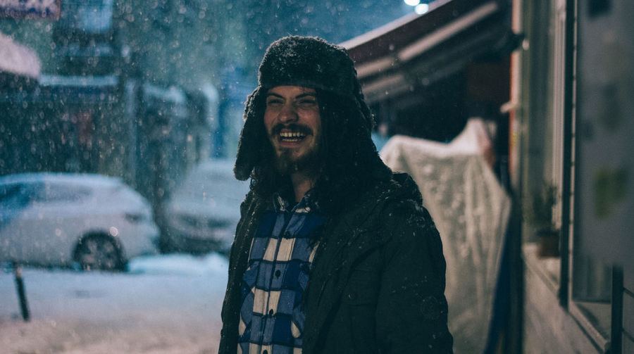 Canon Canonphotography Casual Clothing Confidence  Front View Fun Happiness Head And Shoulders Leisure Activity Lifestyles Long Hair Night Person Portrait Portrait Of A Friend Real People Showcase: January Smiling Snow VSCO Vscofilm Young Adult Enjoy The New Normal