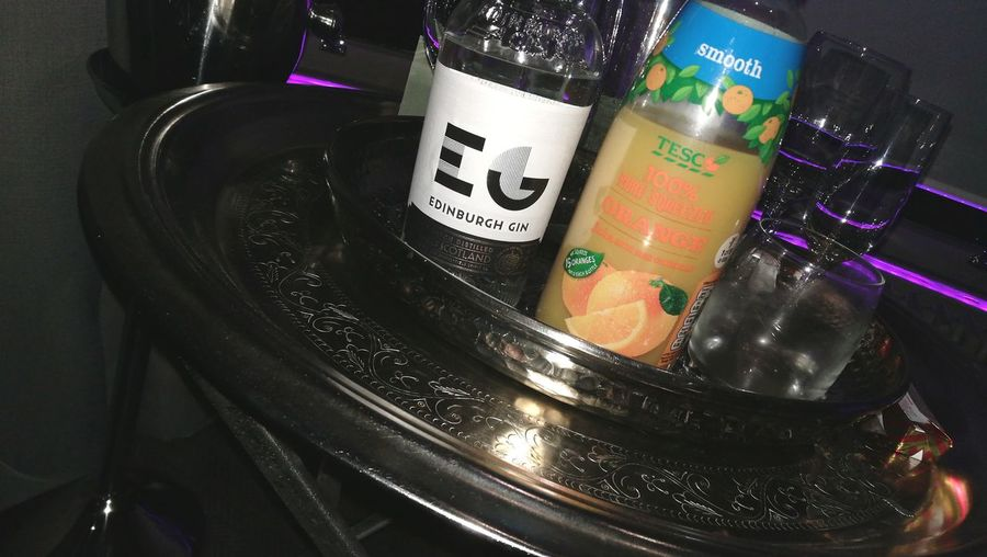 Gin And Juice Edinburgh Gin Alcohol Bottle Arts Culture And Entertainment Close-up Hard Liquor GIN Aperitif Liqueur EyeEmNewHere