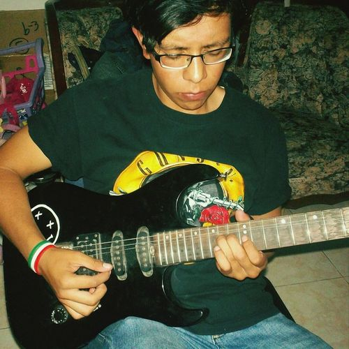I was playing toxicity? That's Me Guns N' Roses PlayingGuitar