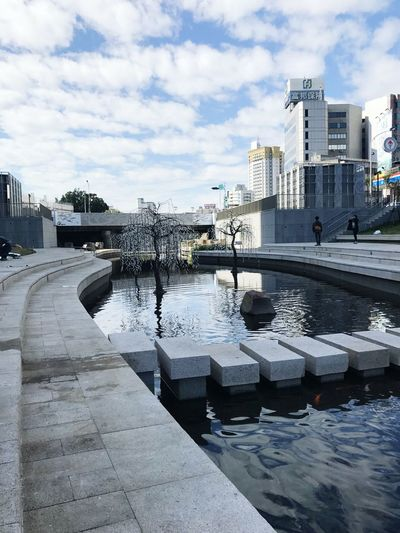 Canal in Taichung Water Outdoors Sky No People City River Modern Day Canals And Waterways