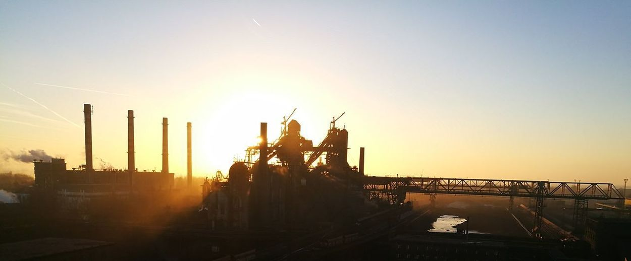 Industry Factory Sky Morning Morning Light Shades