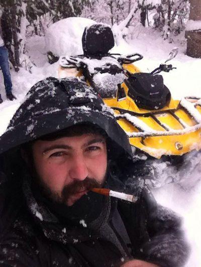 Trabzon Akçaabat Winter Kış Safarisi Freedom Türkiye Turkey Smoking ATV Ride Can-am Outlander
