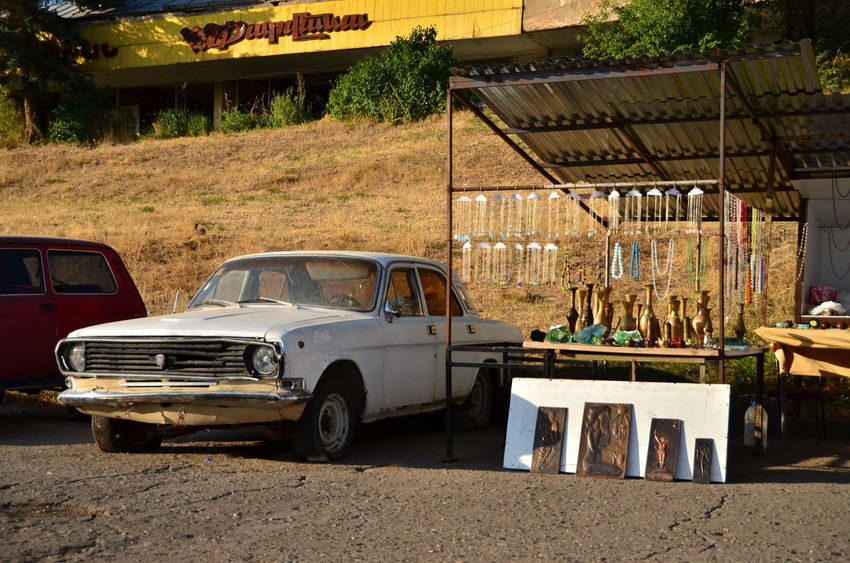 Armenia September Wolga Architecture Building Exterior Built Structure Car City Day Land Vehicle Mode Of Transportation Motor Vehicle Nature No People Old Outdoors Retro Styled Road Stationary Street Sunlight Transportation Travel Destination W-armenien