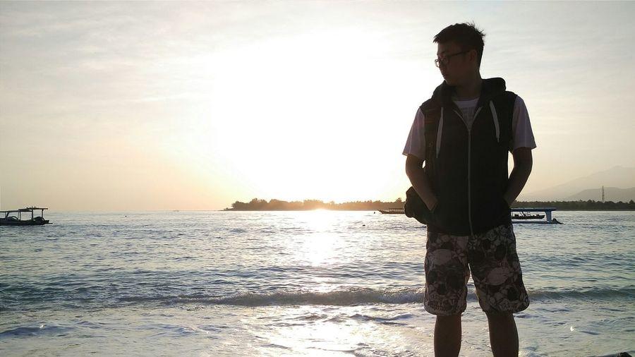 Creative Light And Shadow Lombok Sunrise Silhouette Beach Nature Landscape Travel Hello World Summer Views