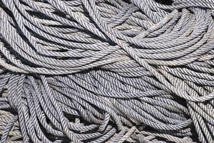 Backgrounds Braided Close-up Complexity Connection Day Full Frame High Angle View Intricacy Large Group Of Objects Man Made No People Outdoors Pattern Repetition Rope Strength Tangled Textile Textured  Twisted