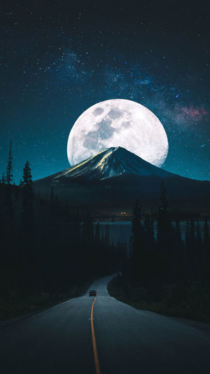 #Road #moon #nightshot #amazing #TagsForLikes #like #all_shots #textgram #family #instago #igaddict #awesome #girls #instagood #my #bored #baby #music Night Astronomy Space Moon Star - Space Sky Clear Sky