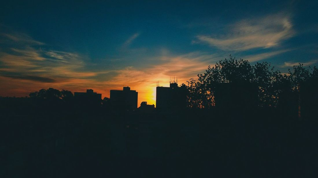 Sunset Silhouette Sky Outdoors City Cityscape Urban Skyline No People Nature The Week Of Eyeem EyeEmNewHere Flying High Art Is Everywhere Break The Mold