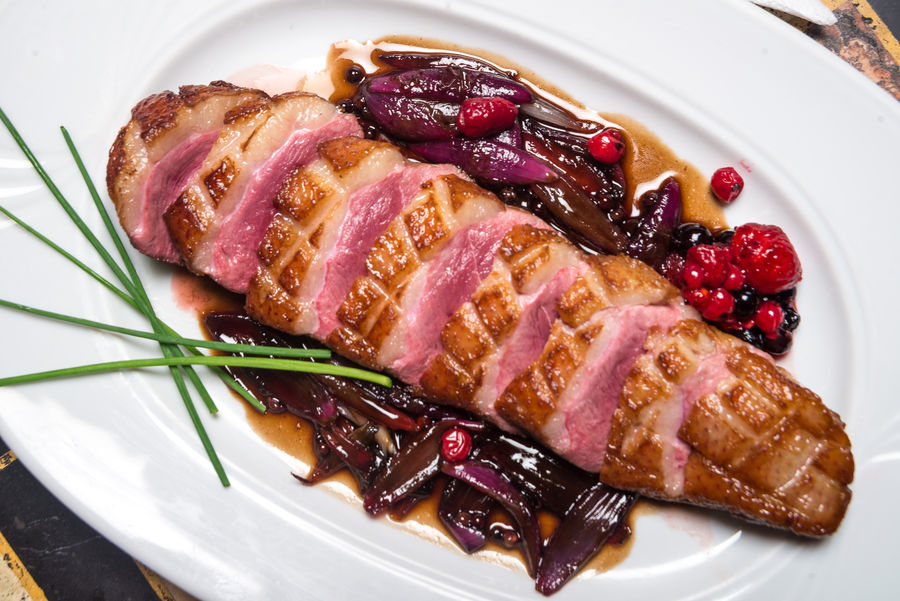 Close-up Day Duck Meat Food Food And Drink Freshness Fry Indoors  Meat No People Plate Ready-to-eat Roast Serving Size SLICE Steak