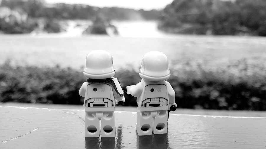 Troops on vacation. EyeEm Best Shots EyeEm Gallery Eye4photography  EyeEm Bnw Bnw_collection Bnw_life Bnwphotography Toy Toys Toyphotography Toycommunity Star Wars Blackandwhite Black And White EyeEm Best Shots - Black + White LEGO Legophotography Lego Minifigures Lego Star Wars  Noir Noirlovers Stormtrooper Lego Star Wars Photography Friends EyeEm Selects Water Close-up Two Objects Pair