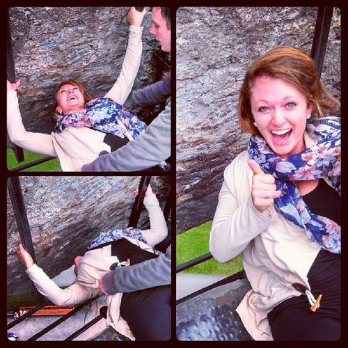 Shiftin dat Blarney stone Giftofgab ? Kissing Shifting Blarneystone usingthoseabmuscles ireland adventures