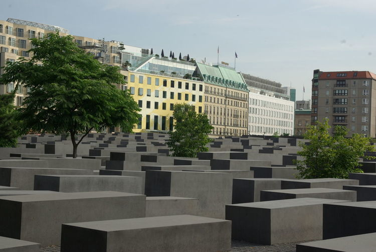 Berlin-Mitte Jüdisches Mahnmal Architecture Building Exterior Built Structure Cemetery Day Memorial No People Outdoors Sky Tree