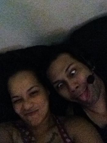 Being silly before bed.. ;)