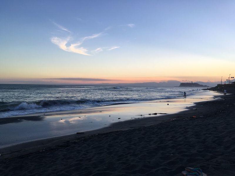 鎌倉。 Kamakura Inamuragasaki Sea And Sky Seaside Japan Photography Japan Seaport Sunset