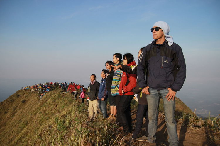 Stand Out From The Crowd Mt.andong with Together taking photo Mybossbeemboss
