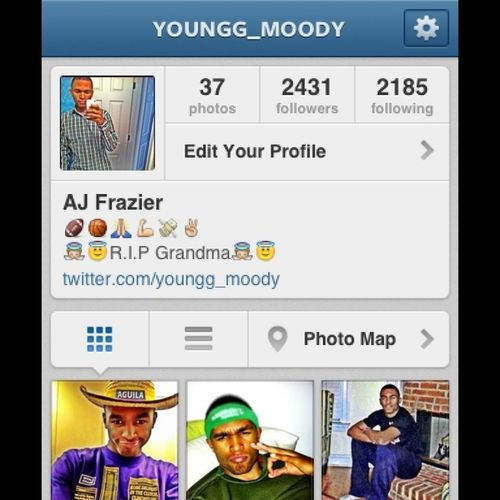 Follow me on here
